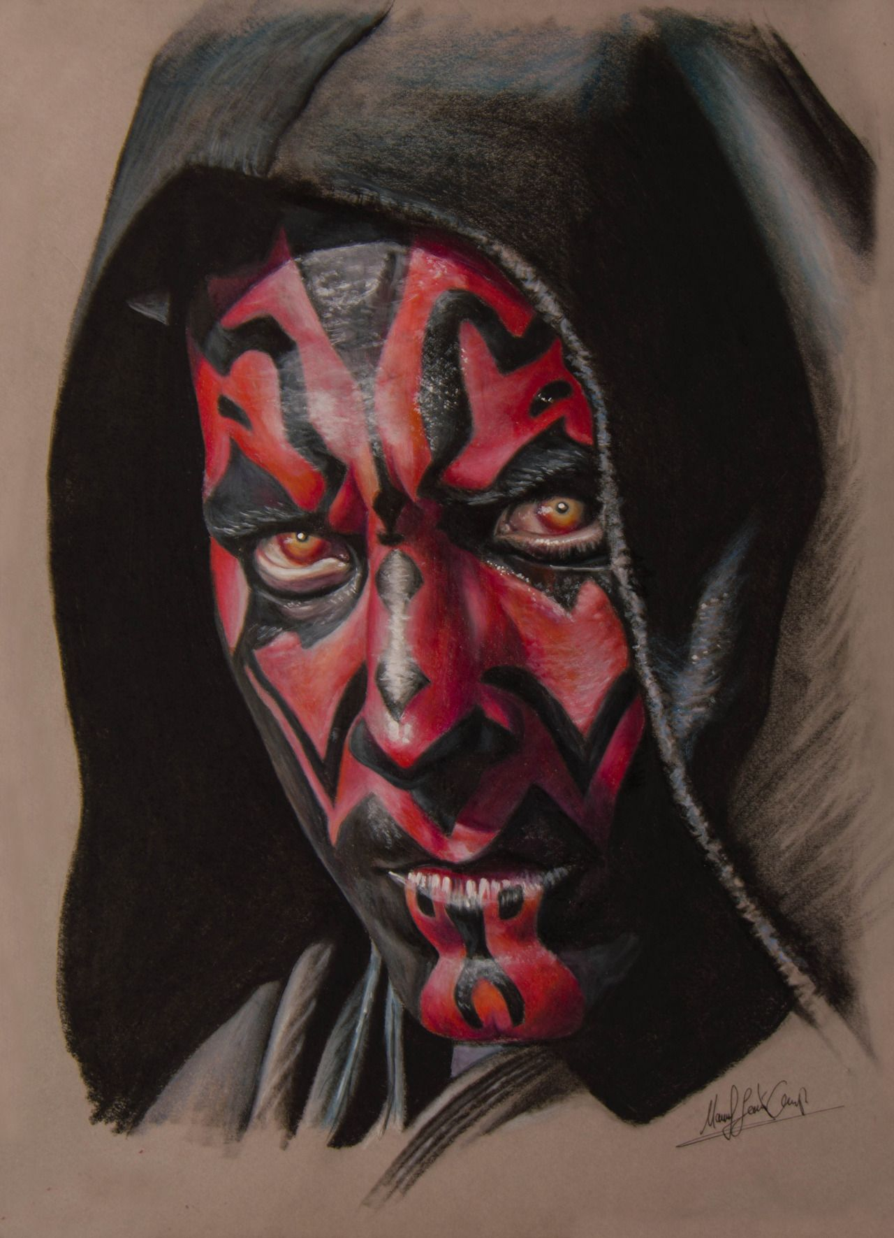 manuelj-art:   Darth Maul Drawing by Zaxer_art. ... - Only you could be so bold