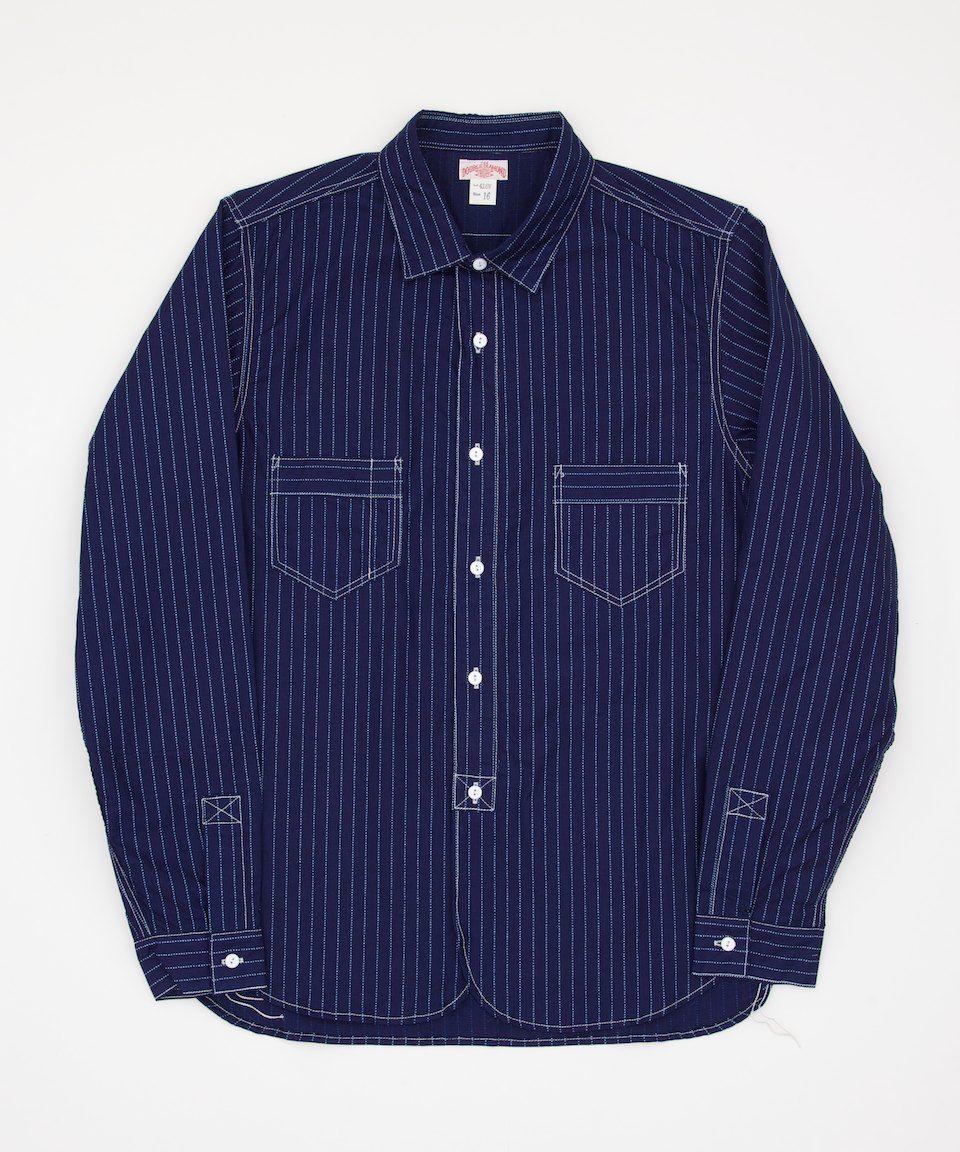 The Real McCoy's Double Diamond Wabash Stripe Shirt Lot416W