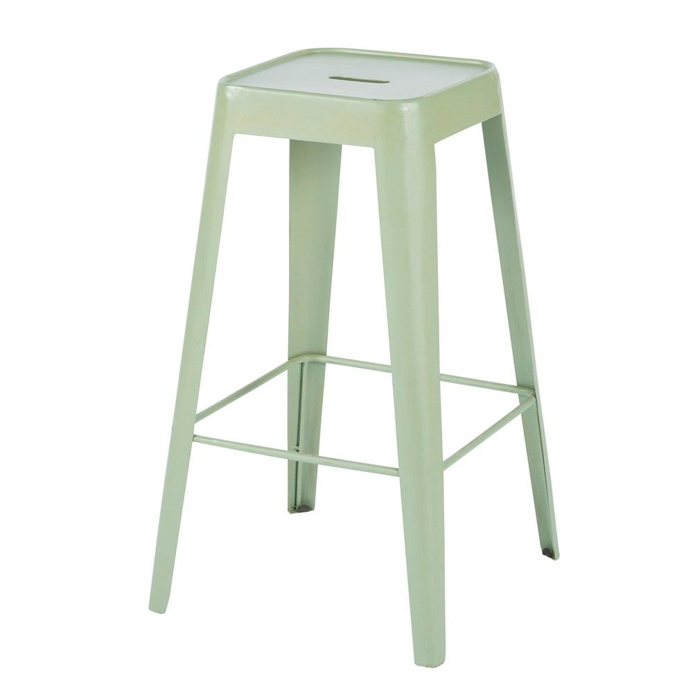 Tabourets Bar Verts Tabouret De Bar Indus En Métal Vert Clair Products Barhocker