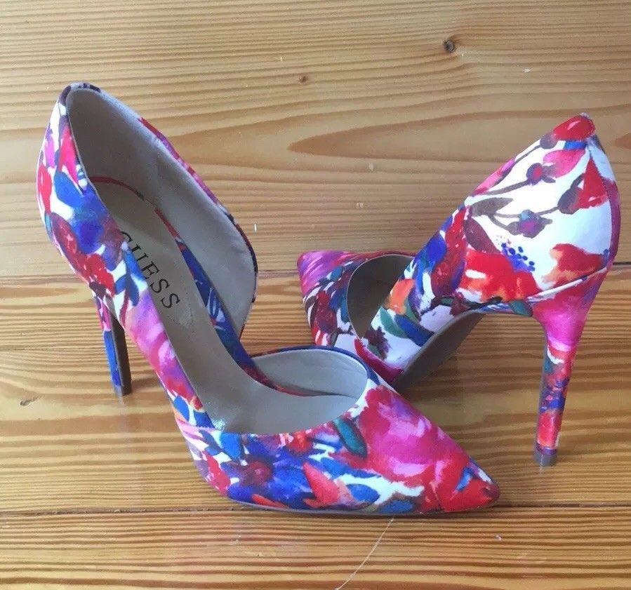 84399c88cada Guess floral print high heels. Excellent condition