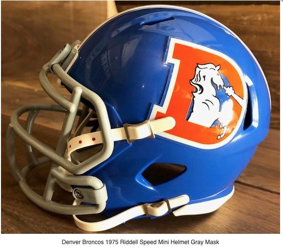 Denver Broncos Throwback Riddell Mini Football Helmet 417 Helmets Football Helmets Nfl Football Helmets Mini Football Helmet