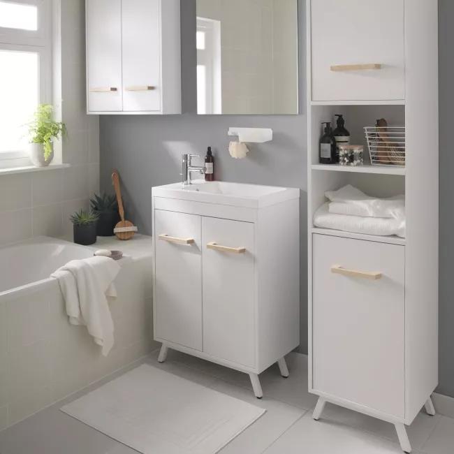 Slupek Lazienkowy Goodhome Ladoga 190 X 36 X 40 Cm Bialy Slupki Castorama Home Decor Decor Furniture