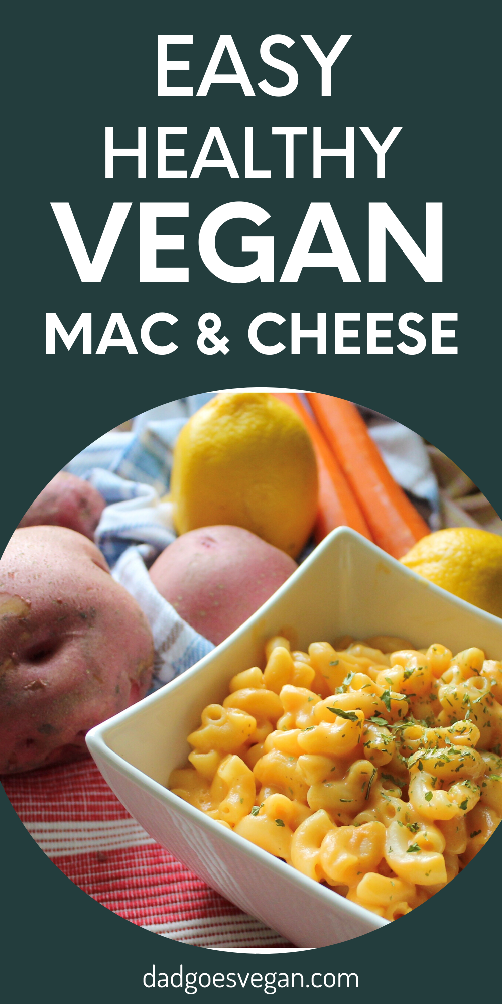 The Easiest Healthiest Vegan Mac And Cheese Dad Goes Vegan Recipe Vegan Mac And Cheese Vegan Recipes Easy Healthy Vegan