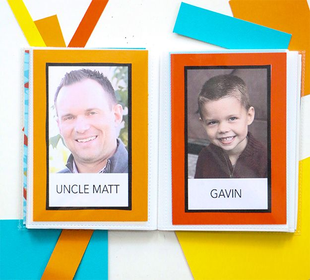 """When babies start to talk, it's the best. They struggle and fumble on their words until they finally nail """"mama"""" and """"dada"""". To help Tommy and Evie identify the other members of our family, I decided to make them a family book. I had everyone in my family and Mike's family send me headshots. I …"""