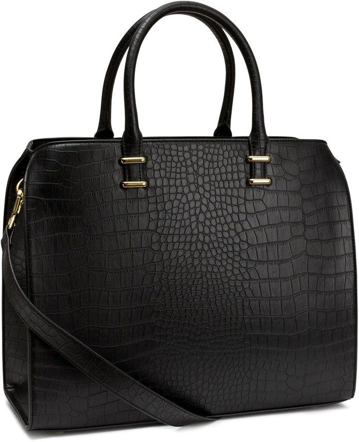 b06ca91ef866 H M - Handbag - Black crocodile pattern - Ladies