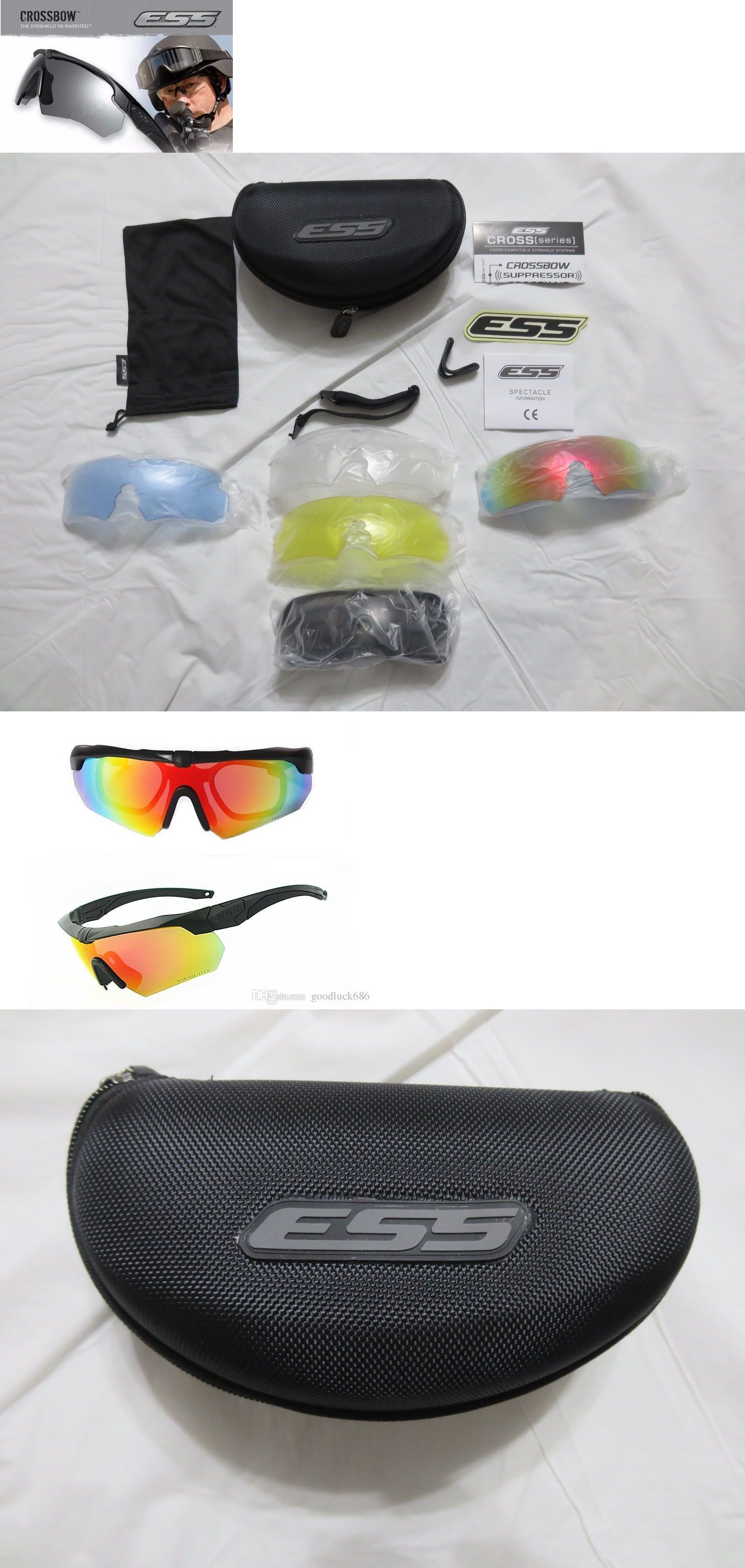 47fe3bb7a73 Shooting and Safety Glasses 151549  Ess Crossbow Ls3 Goggles 5 Lens  Polarized Sunglasses