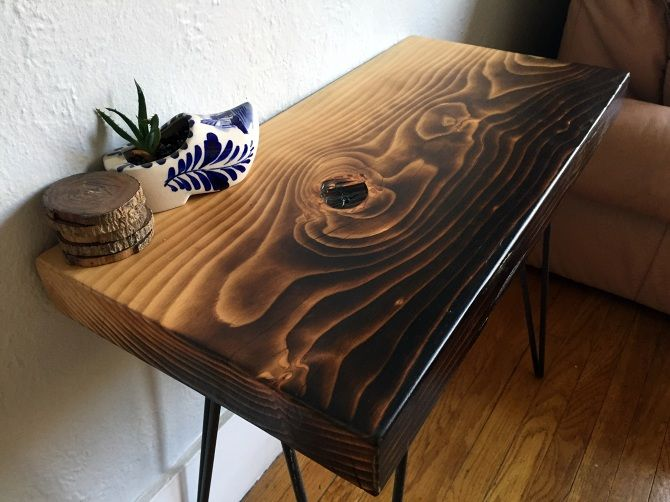 Torched Deodar Cedar Accent Table - Ambrose Woodworks