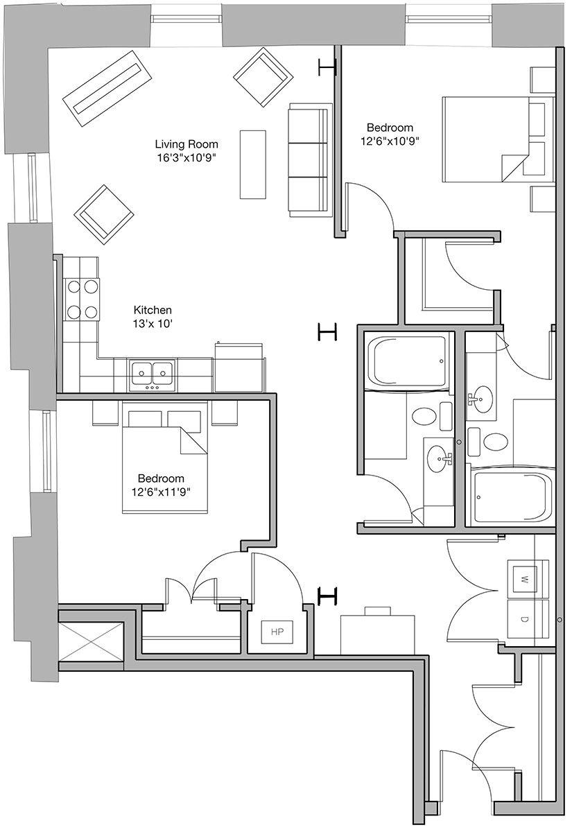 Amill artist lofts unit guest house plans artist
