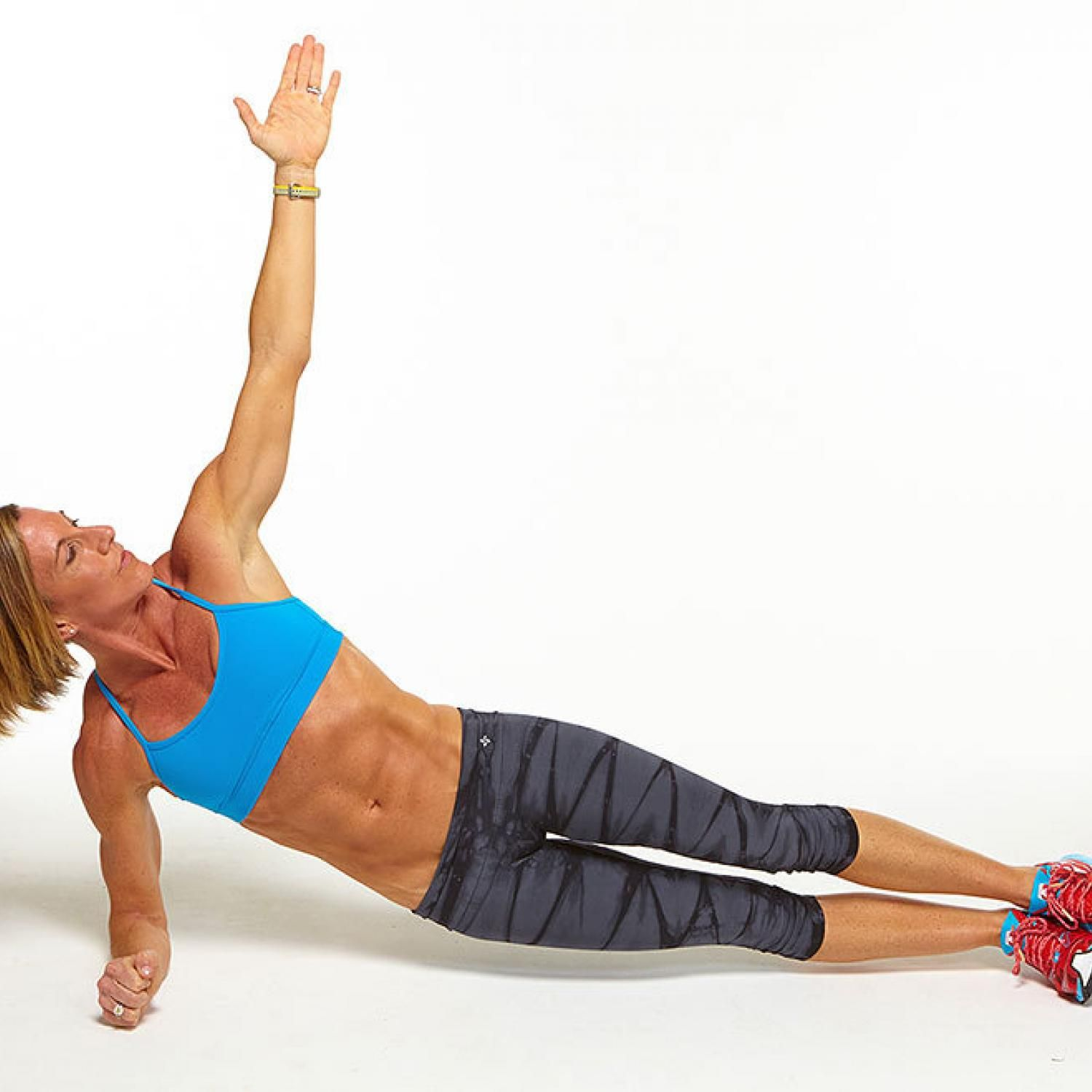 5/12 Plank Challenge: Low Side Plank with Hip Dips - Fitnessmagazine.com