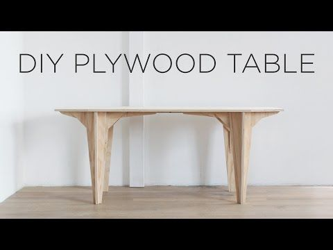 Diy Plywood Table Made From A Single Sheet Of Plywood Youtube Plywood Table Plywood Coffee Table Coffee Table Plans