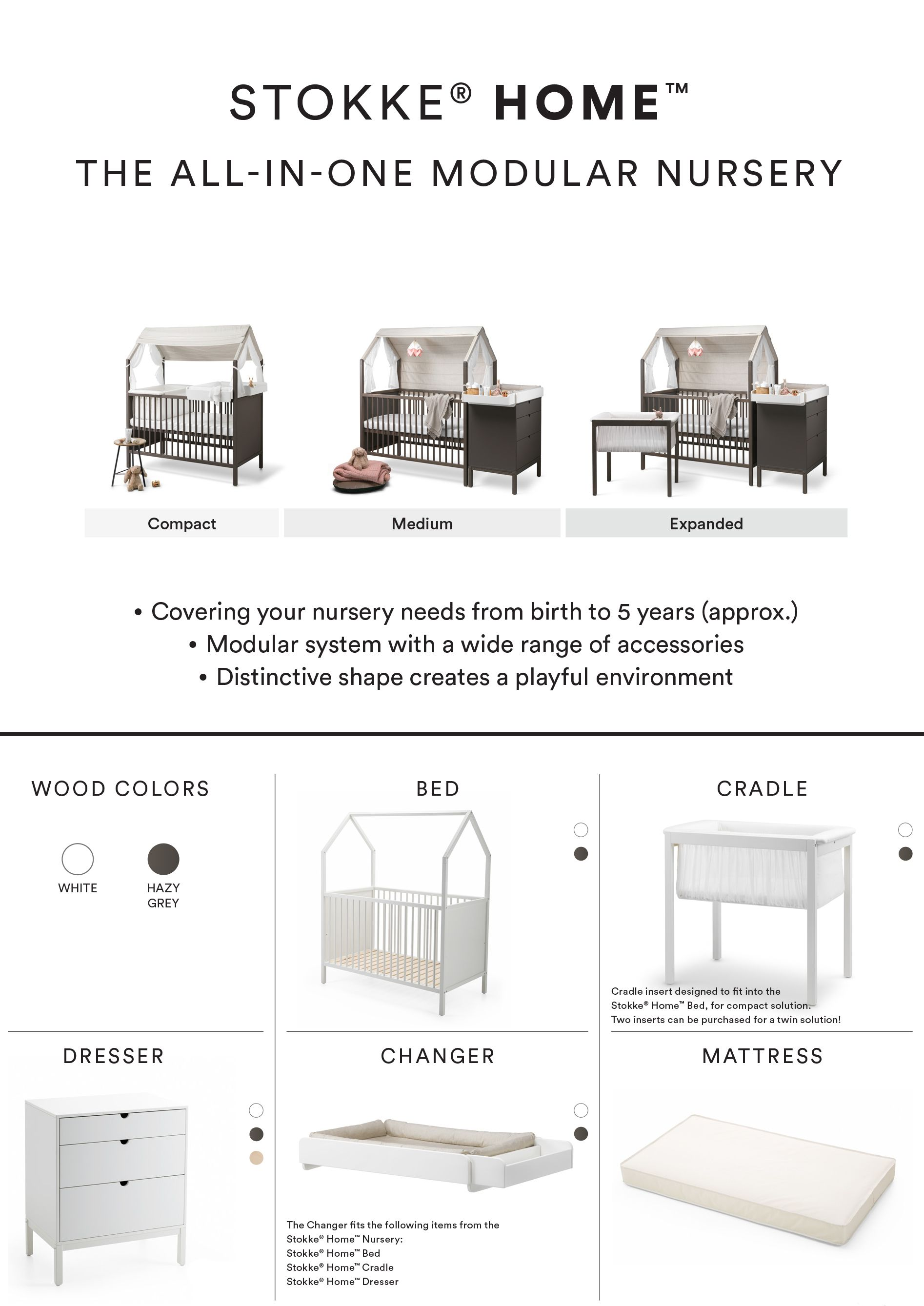 compact nursery furniture. The Stokke® Home™ Nursery Furniture Collection Lets You Choose Your Preferred Components From Product Range And Design Individual Room Setting. Compact O