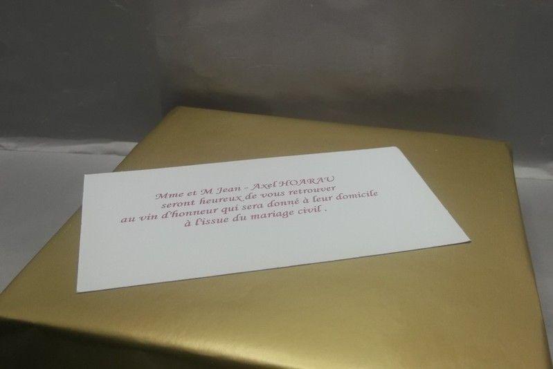 Carton d'invitation recto