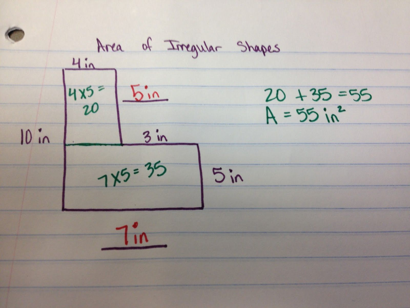 The 4th Grade May Niacs Finding The Area Of Irregular