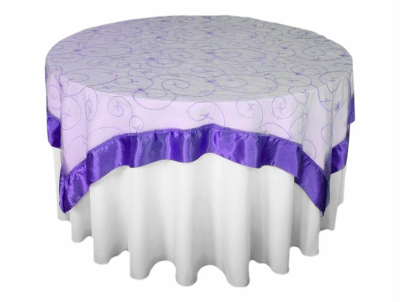 Embroidered Sheer Organza Table Overlay We Would Use This Over The Card