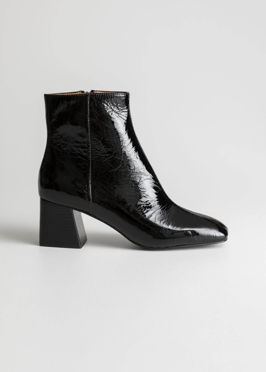 Patent Square Toe Ankle Boots | Boots