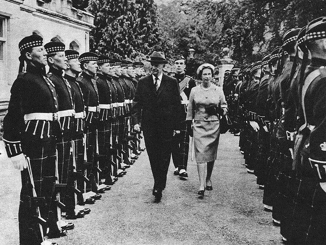 President Eisenhower Queen Elizabeth Balmoral Castle 1959 Flickr