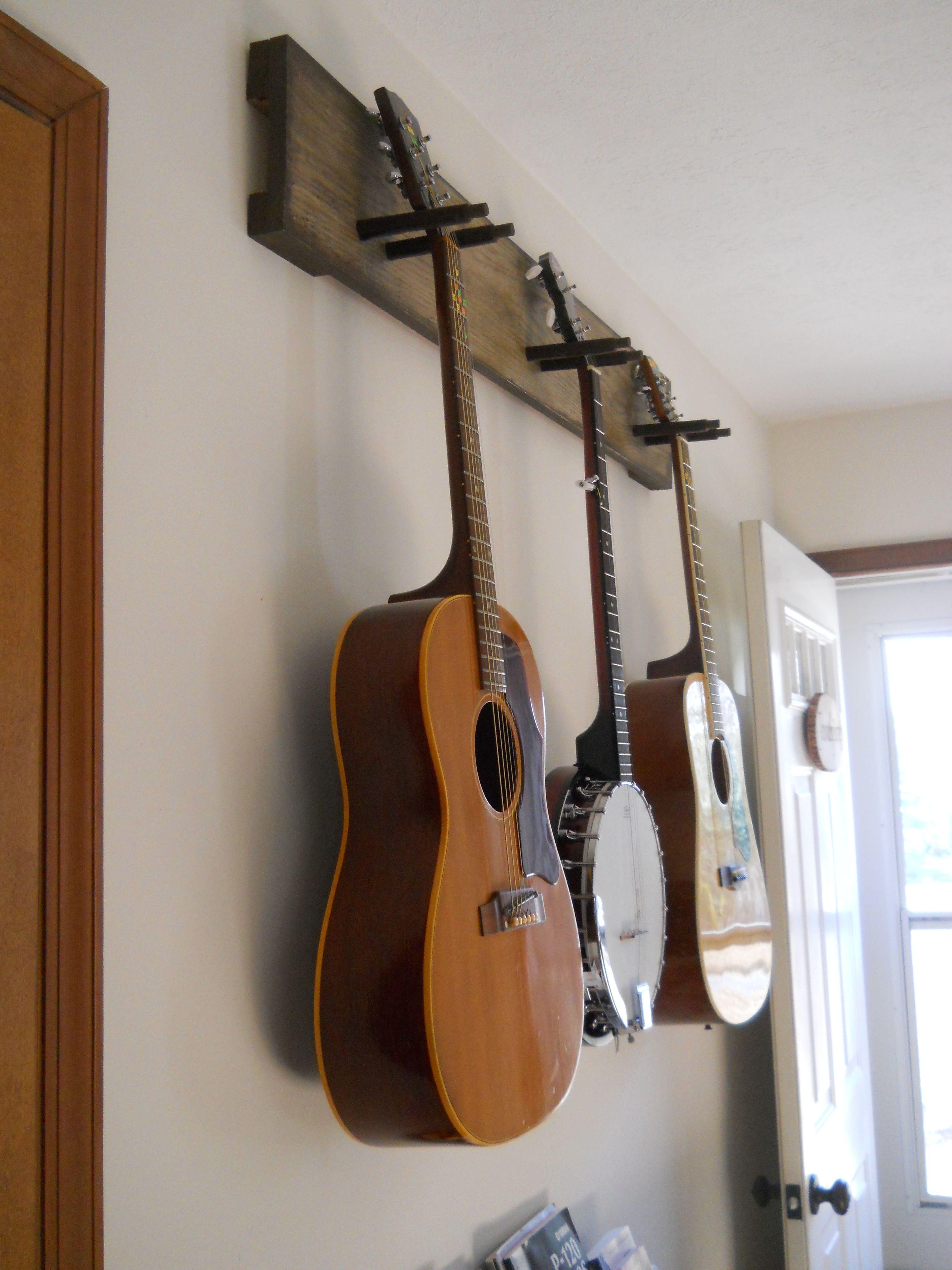 Diy Guitar Hanger Simple Amp Secure We Practice So Much