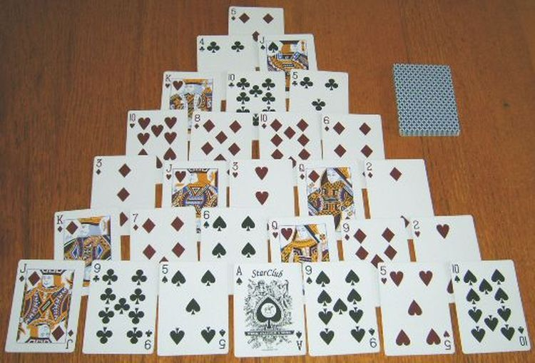 Here S How To Win At Pyramid Solitaire Solitaire Card Game Fun Card Games Playing Card Games