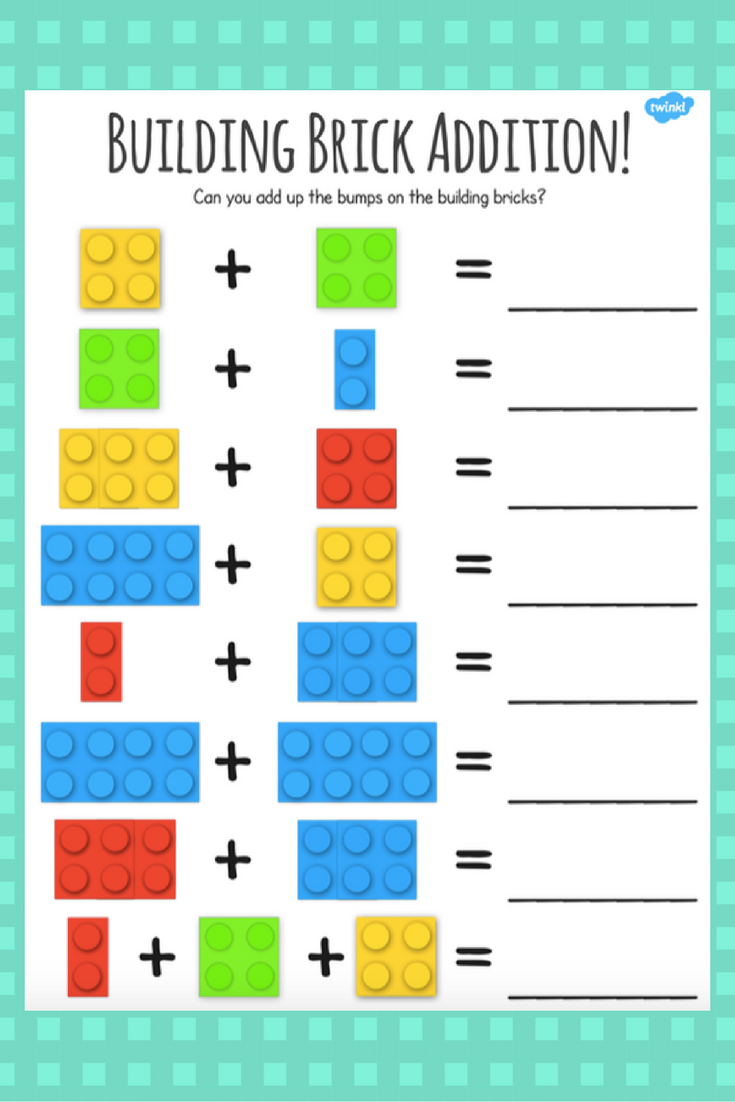 Fun LEGO addition activity perfect for engaging little ...
