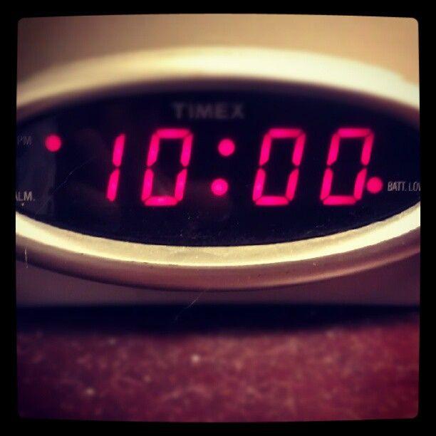 Ttsummerlovin Day 19 We Stayed Out Till 10 O Clock Tellthemsc Time Outallnight Grease Clock Bedside Emmacdavidson Clock Oclock Instagram