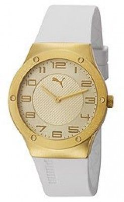 White Watch Puma Pu102962003relogios Gold Disc Women's Relógio lTFcKJ31