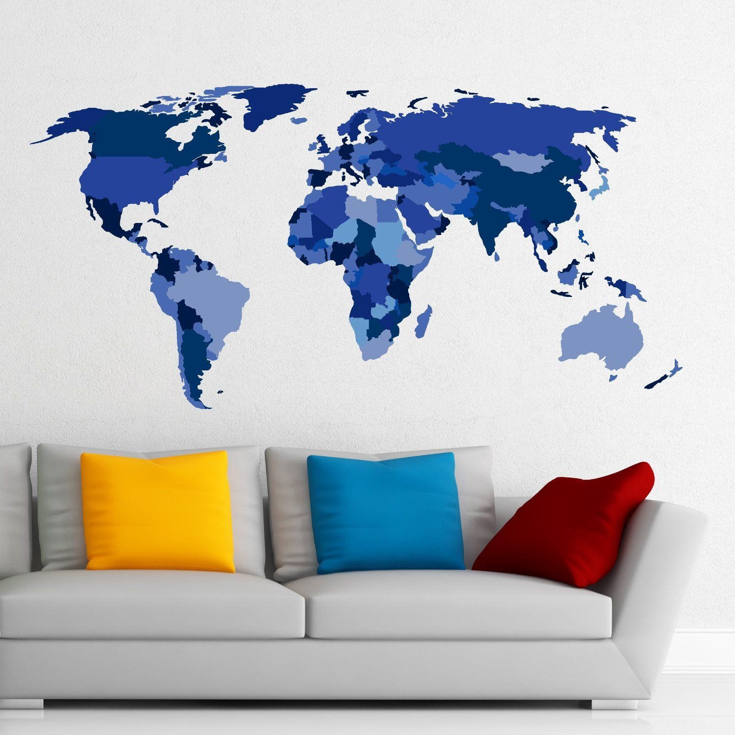 Worksheet. Amazoncom MADE IN THE USA  Wall Decals Map Of The World