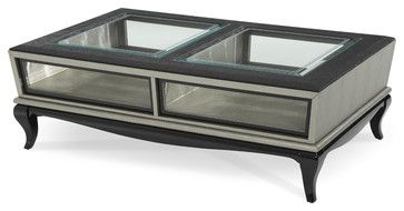After Eight Cocktail Table, Titanium - modern - side tables and accent tables - Carolina Rustica | $739