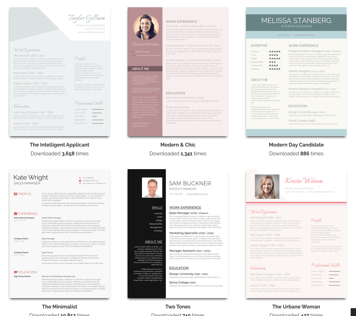 Resume Templates For Word Free Over 50 Free Resume Templates For Microsoft Word  Pinterest .