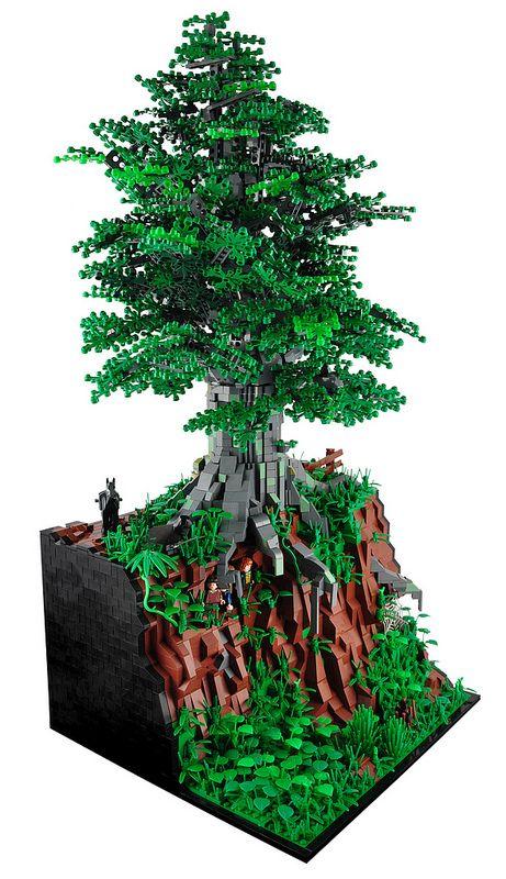 Lotr Diorama Xenomurphy Lego Tree Amazing Lego Creations Cool Lego