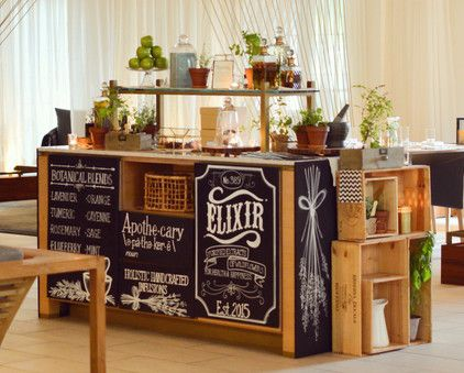 Apothecary Cocktail Station