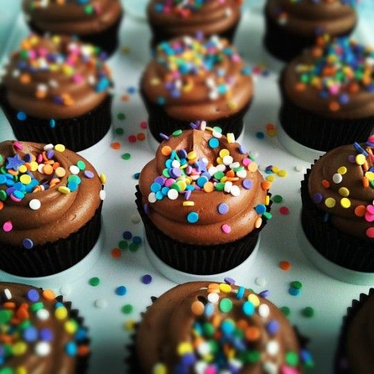 Chocolate con sprinkles, mmmm / Chocolate with sprinkles, yum!