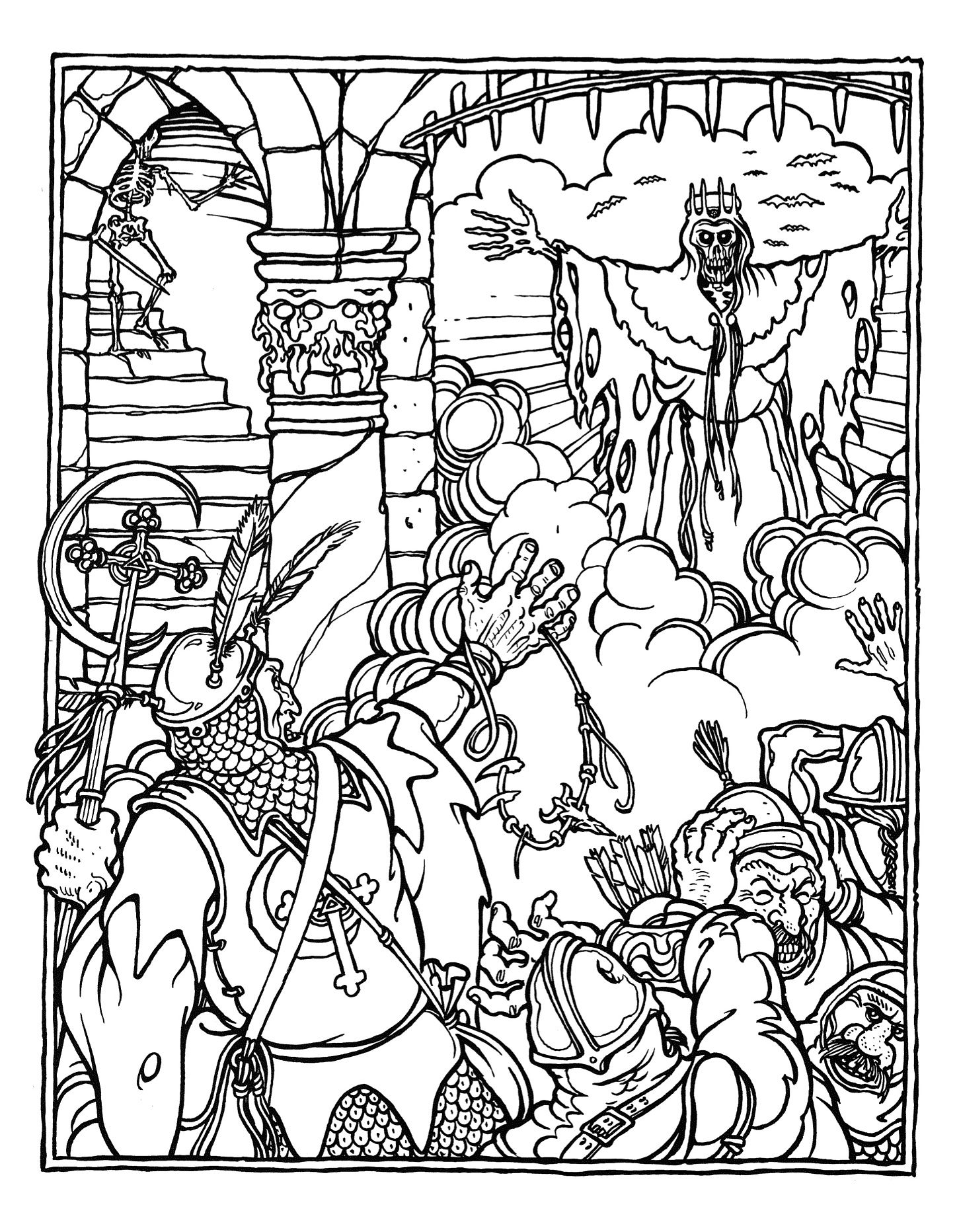 Coloring pages advanced - Amazing Dungeons And Dragons Coloring Book Wonderful Coloring Pages Image Advanced Coloring Pages