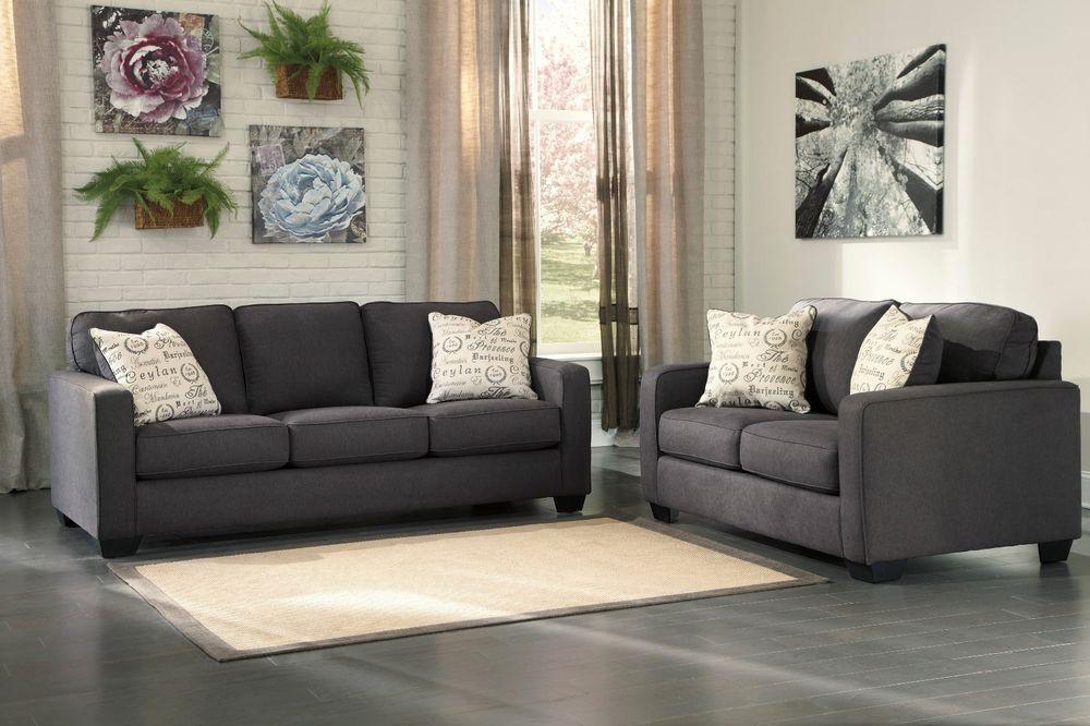 New Ashley Alenya Sofa And Loveseat Charcoal
