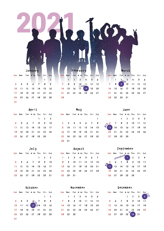 2021 Bts Calendar Poster 1 Year Bangtan Sonyeondan Wallpaper Bts Birthdays Bts Calendar Bts Book Bts wallpaper 2021 free download
