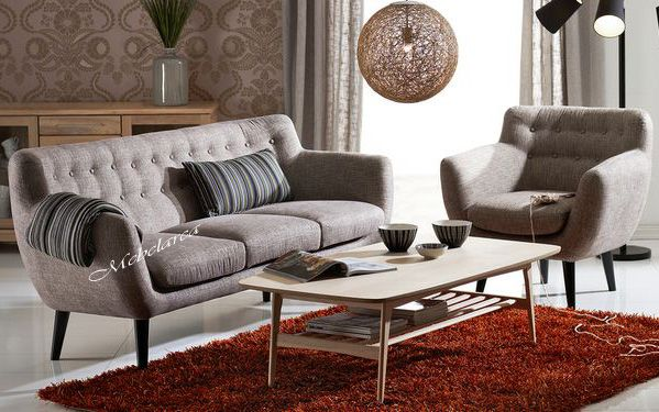 Set Sofa Tamu Retro Robert Dengan