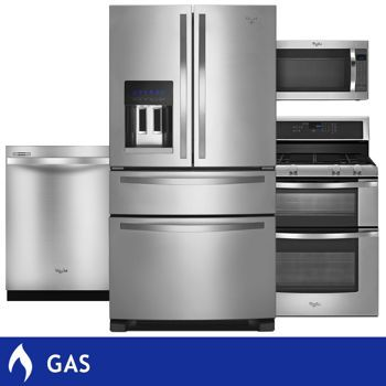 Whirlpool 4 Piece Gas Stainless Steel 25cuft With External Drawer