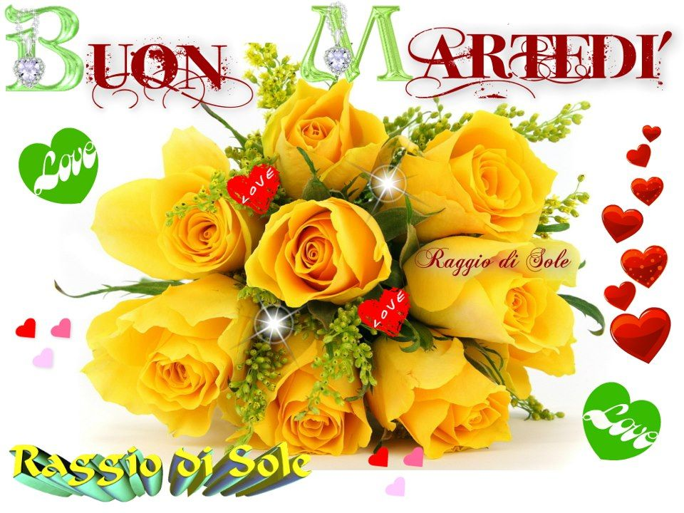Fiori Gialli Mazzo.Buon Martedi Bouquet Di Rose Gialle Rose Gialle E Mazzo Di Fiori