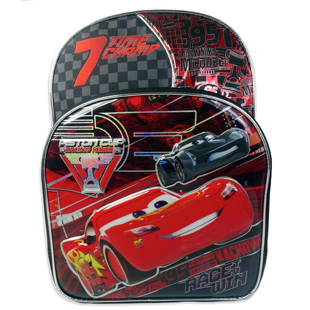 Cars 3 Lightning McQueen 16 Kids  Backpack - Black  c69f19f223dc6