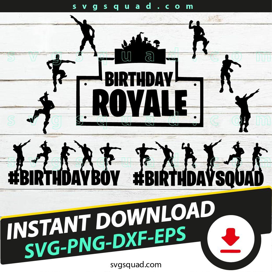 Birthday Boy SVG, Birthday Squad SVG, Battle Royale