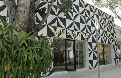 Louis Vuitton Store Miami Design District Groen Bij Gevel Winkel
