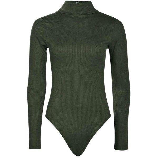 fecc891c Boohoo Lola Turtle Neck Rib Long Sleeve Bodysuit | Boohoo ($20) ❤ liked on