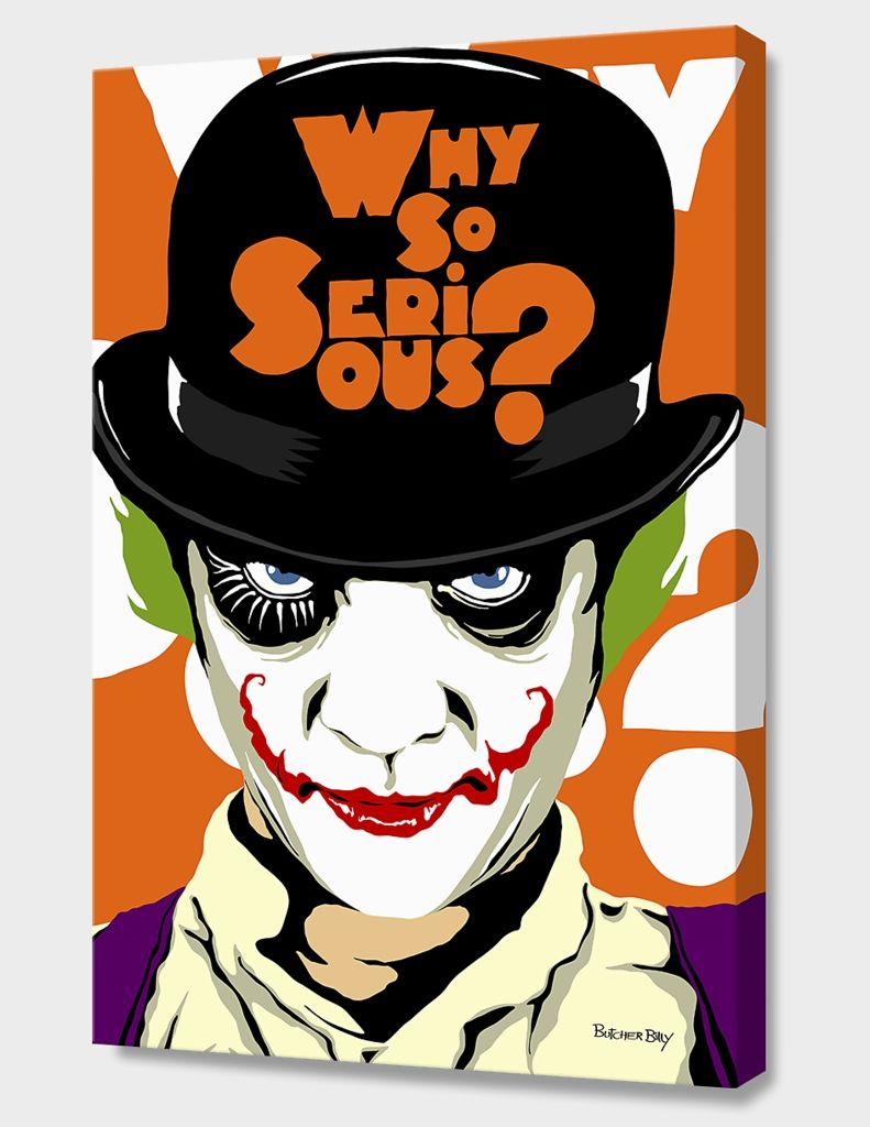 """""""A Clockwork Joker"""", Numbered Edition Canvas Print by Butcher Billy - From $89.00 - Curioos"""