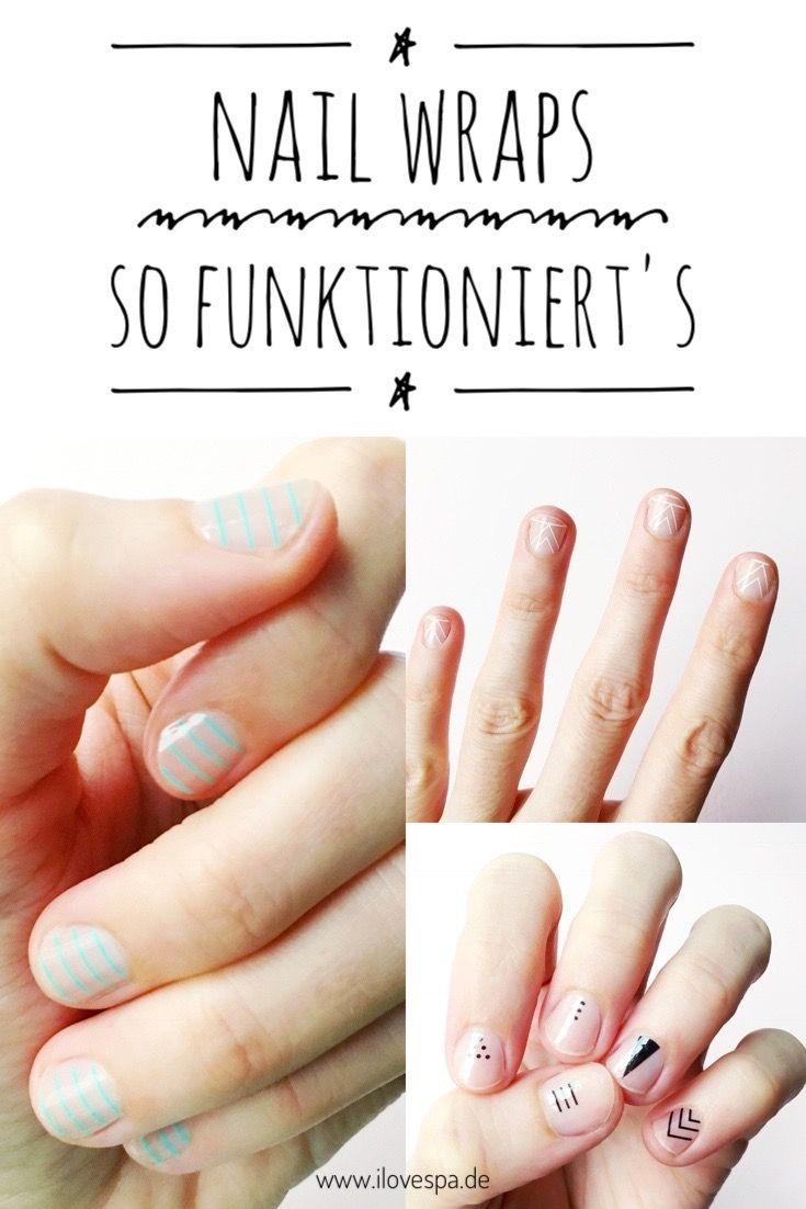 Minimalistisches Nageldesign mit Streifen - meine ersten Nail Wraps ...