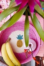 pretty raffia pineapple basket by RICE DK at www.pinksandgreen.co.uk