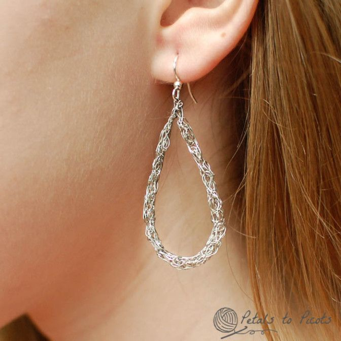 Crochet Teardrop Wire Earrings Wire Earrings Crochet And Basic