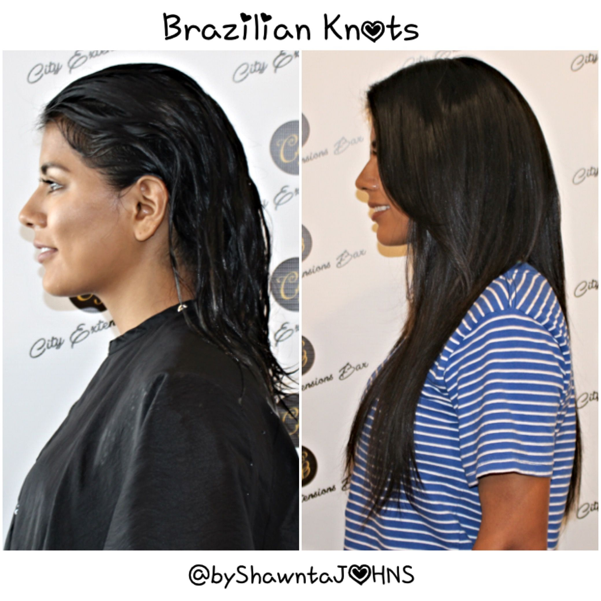 Brazilian Knots Extensions do don't require heat, beads ...