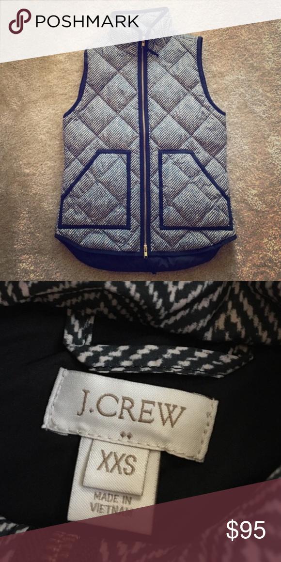 NWOT J. Crew Herringbone down Vest NWOT J. Crew Herringbone down Vest. Beautiful for the fall! New condition! Size xxs but it also fits size xs. J. Crew Jackets & Coats Vests