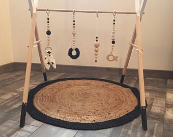 portique d 39 veil en bois pour b b ou babygym arche de. Black Bedroom Furniture Sets. Home Design Ideas