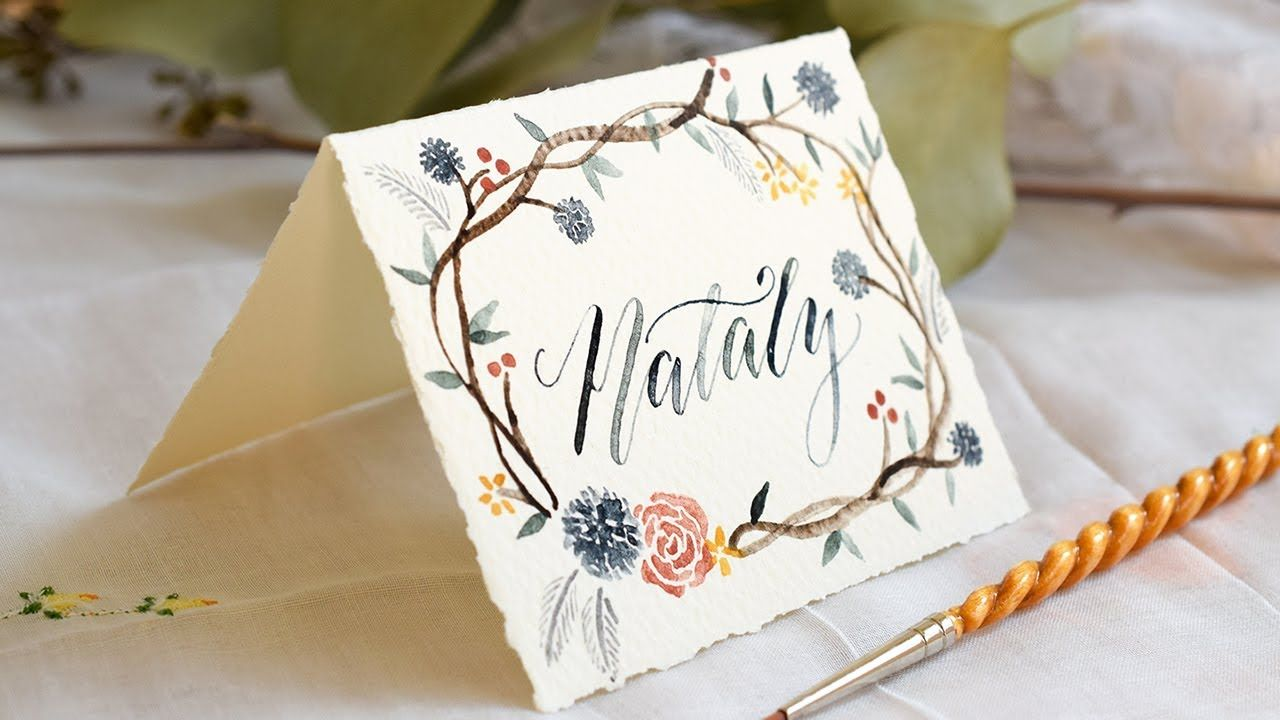 How to create watercolor calligraphy watercolor flowers