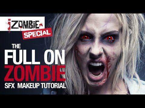 iZombie Olivia Moore full on zombie tutorial - YouTube